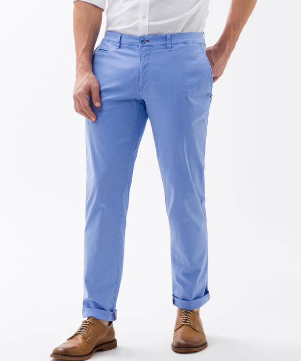 Sky Blue Fabio Hi-Flex Modern Fit Cotton Chinos