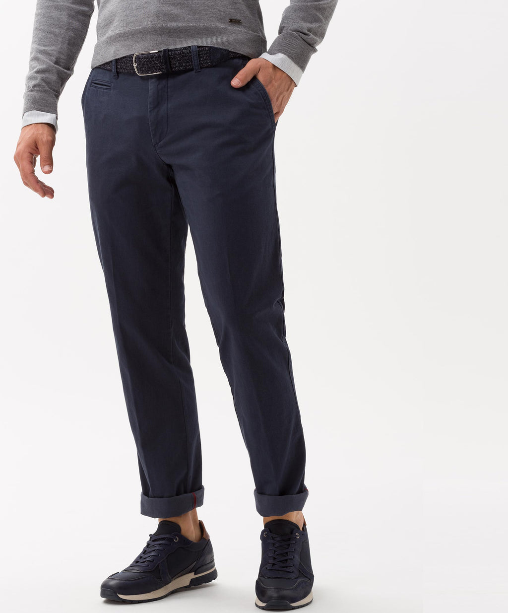 """Felix "" • Navy • Hi-Flex • Cotton Chinos • Slim Fit"