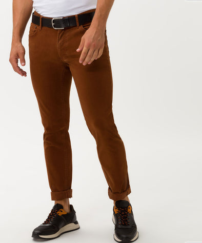 Cognac Chuck Slim Fit Hi-Flex Stretch Five Pocket Trousers