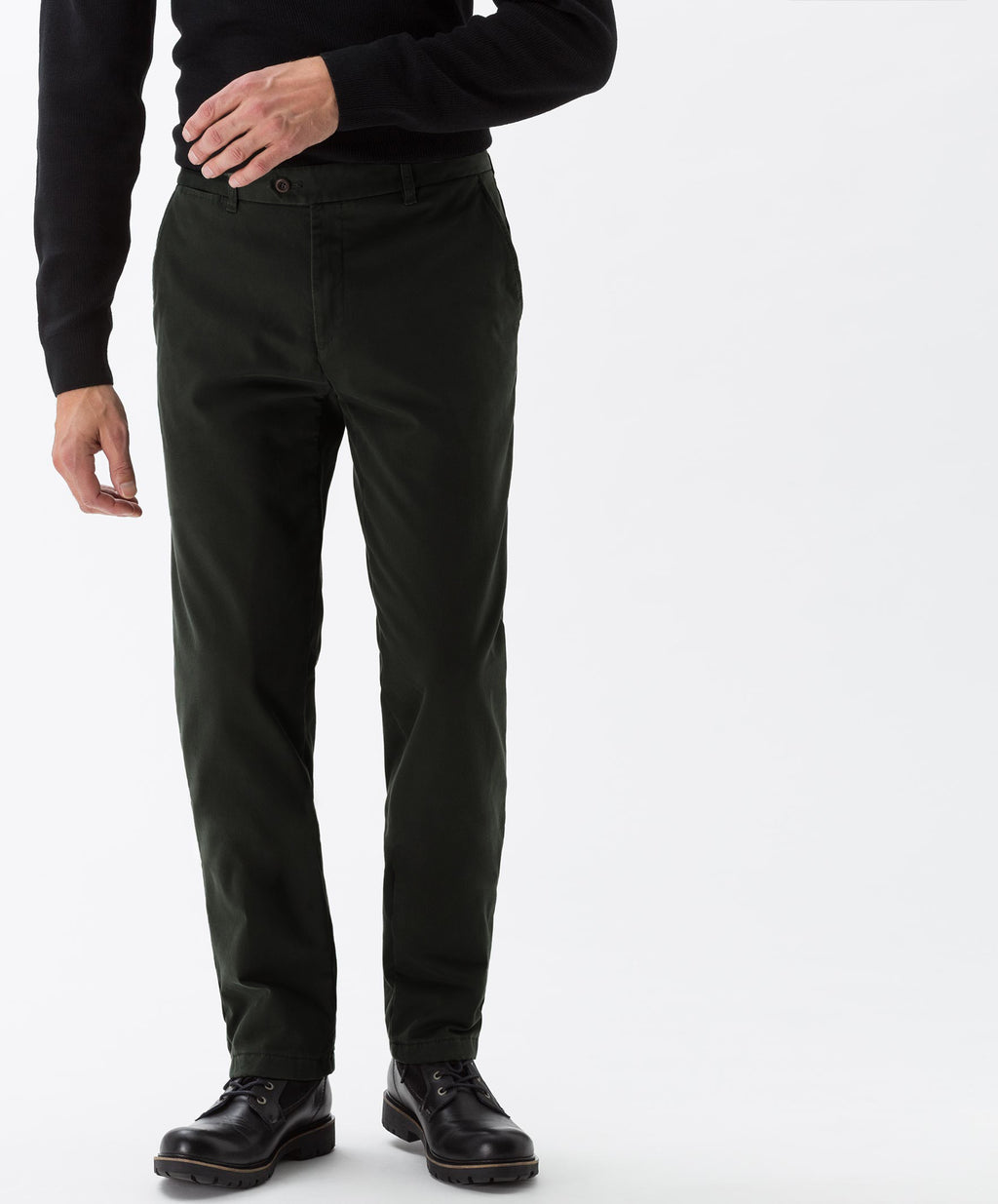 """Rene"" • Sludge • Stretch Chinos • Slim Fit • Cashmere"