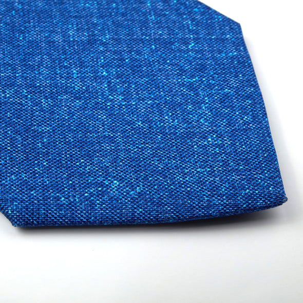 Blue Structured Silk Tie