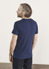 Iconic Cosmos Blue Pima Stretch Short Sleeve Crew Neck