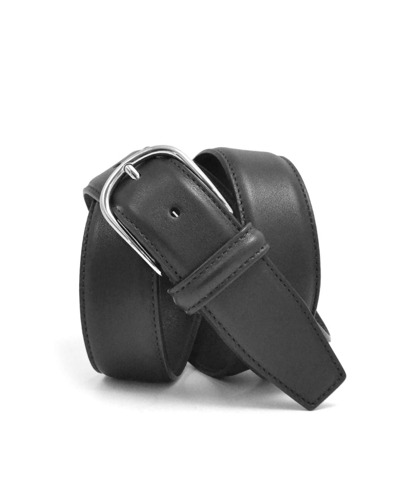 Smooth Black Nappa Calf Leather Belt - Anderson's