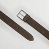 Chocolate Nubuck Soft Suede Leather Belt
