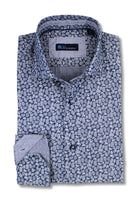 Blue Paisley Slim Fit Sport Shirt