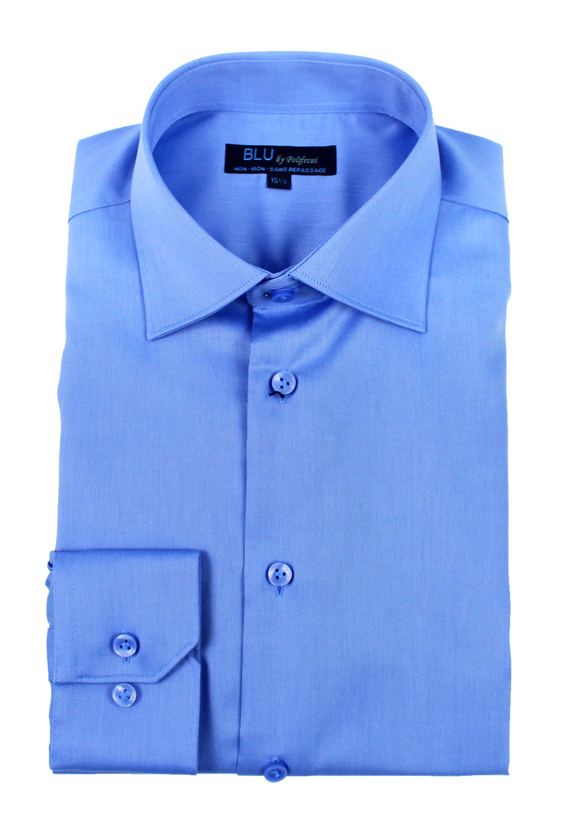 Sky Blue Dress Shirt • Slim Fit • Non-iron
