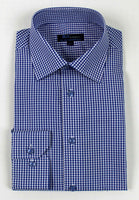 Blue Check Dress Shirt • Slim Fit • Non-iron