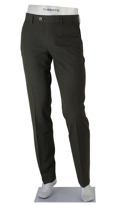 ALBERTO - PIPE Ceramica Black Slim Fit Dress Pants