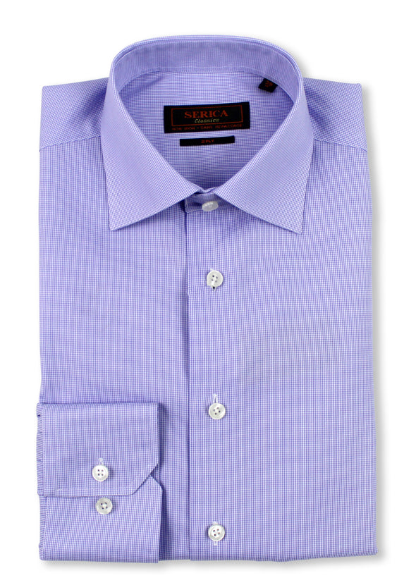 Mauve Micro-Houndstooth Dress Shirt  • Contemporary Fit • Non-iron • Wrinkle-free