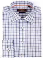 Blue Check Dress Shirt  • Contemporary Fit • Non-iron • Wrinkle-free