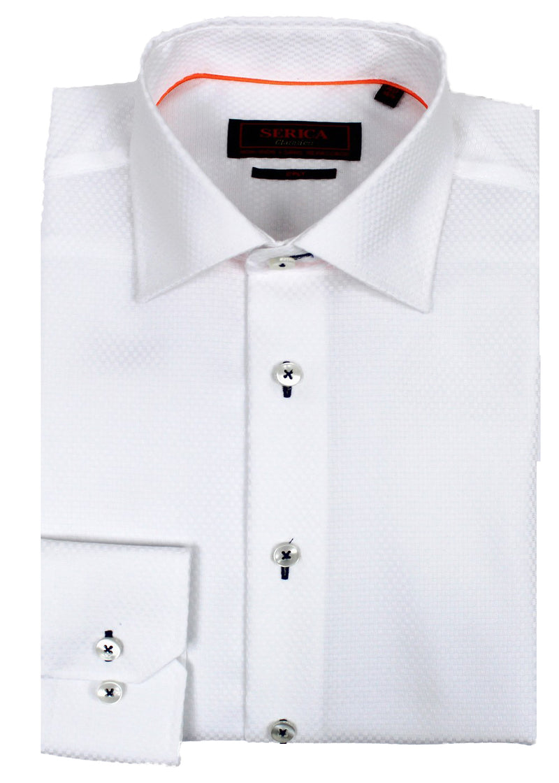 White Design Dress Shirt  • Contemporary Fit • Non-iron • Wrinkle-free