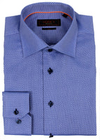 Blue Abstract Dress Shirt  • Contemporary Fit • Non-iron • Wrinkle-free