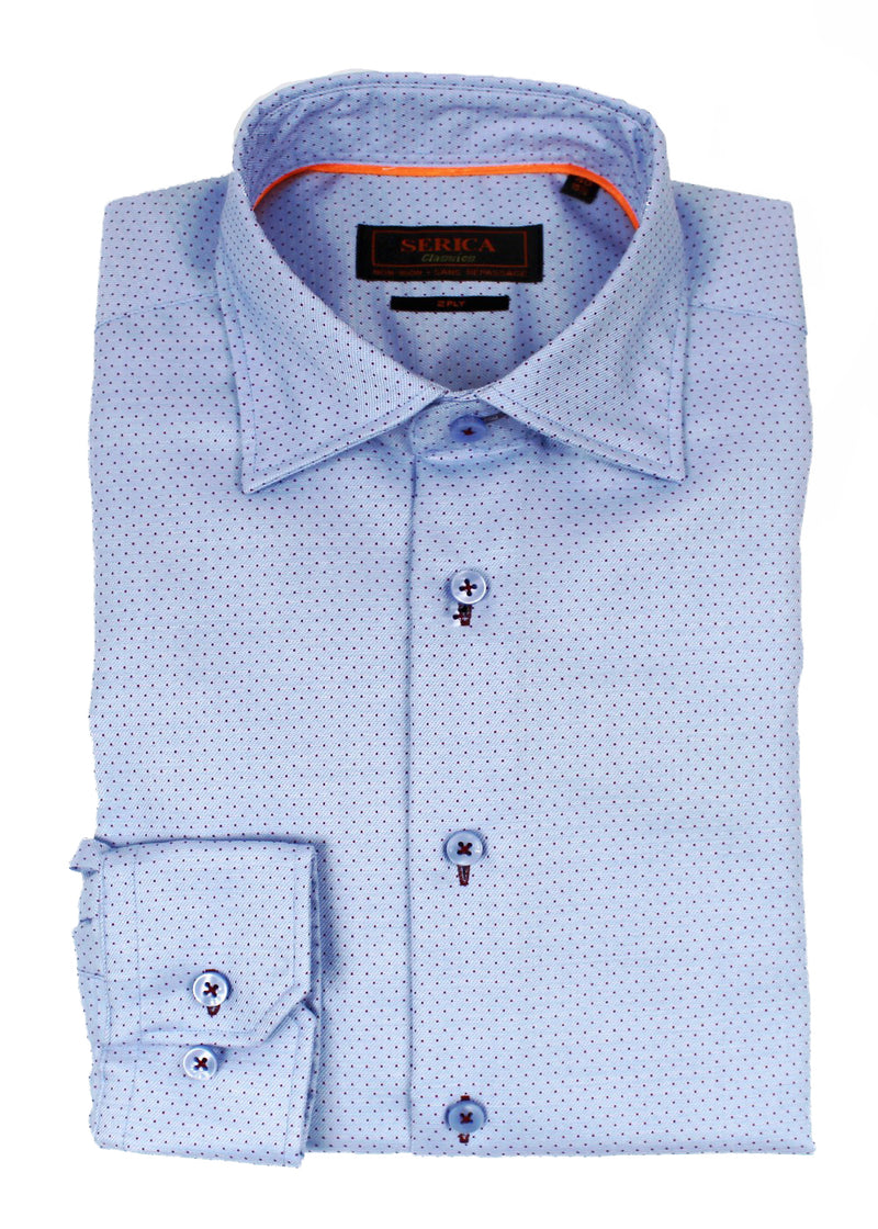 Blue Dot Dress Shirt  • Contemporary Fit • Non-iron • Wrinkle-free