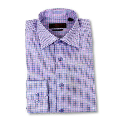 Pink Check Serica Classic Contemporary Fit Dress Shirt