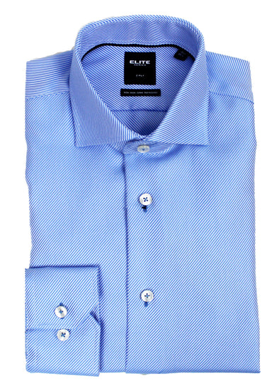 Blue Fancy Dress Shirt • Slim Fit • Non iron •