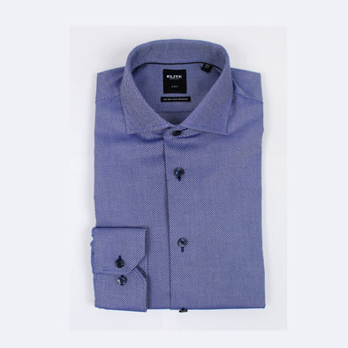 Blue Oxford Slim Fit Non Iron Wrinkle-free