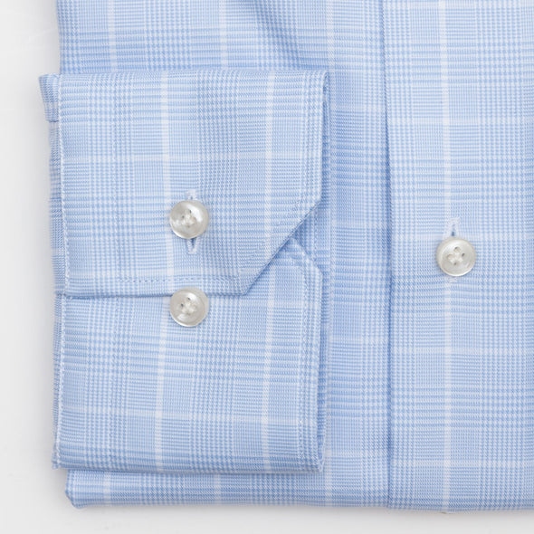 Emanuel Berg District Check Shirt In Blue Modern Fit