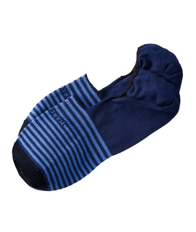 Royal Blue Stripe Invisible Touch No-Show Socks