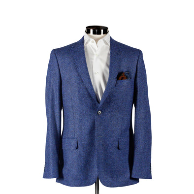 Blue Wool & Cashmere Contemporary Fit Sport Coat