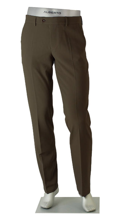 ALBERTO - George Ceramica Brown Dress Pants