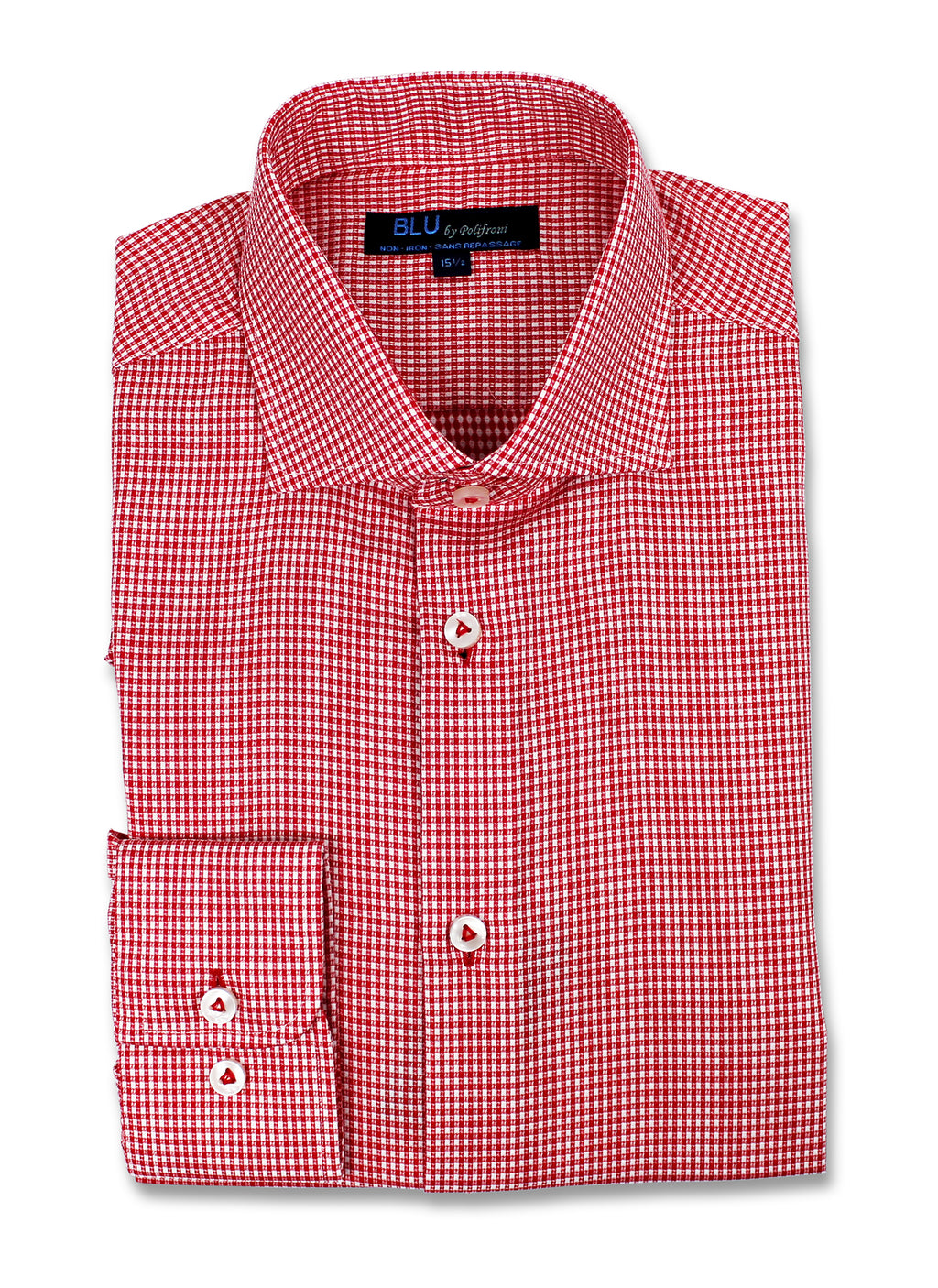 Red Mini Check Dress Shirt • Slim Fit • Non-iron