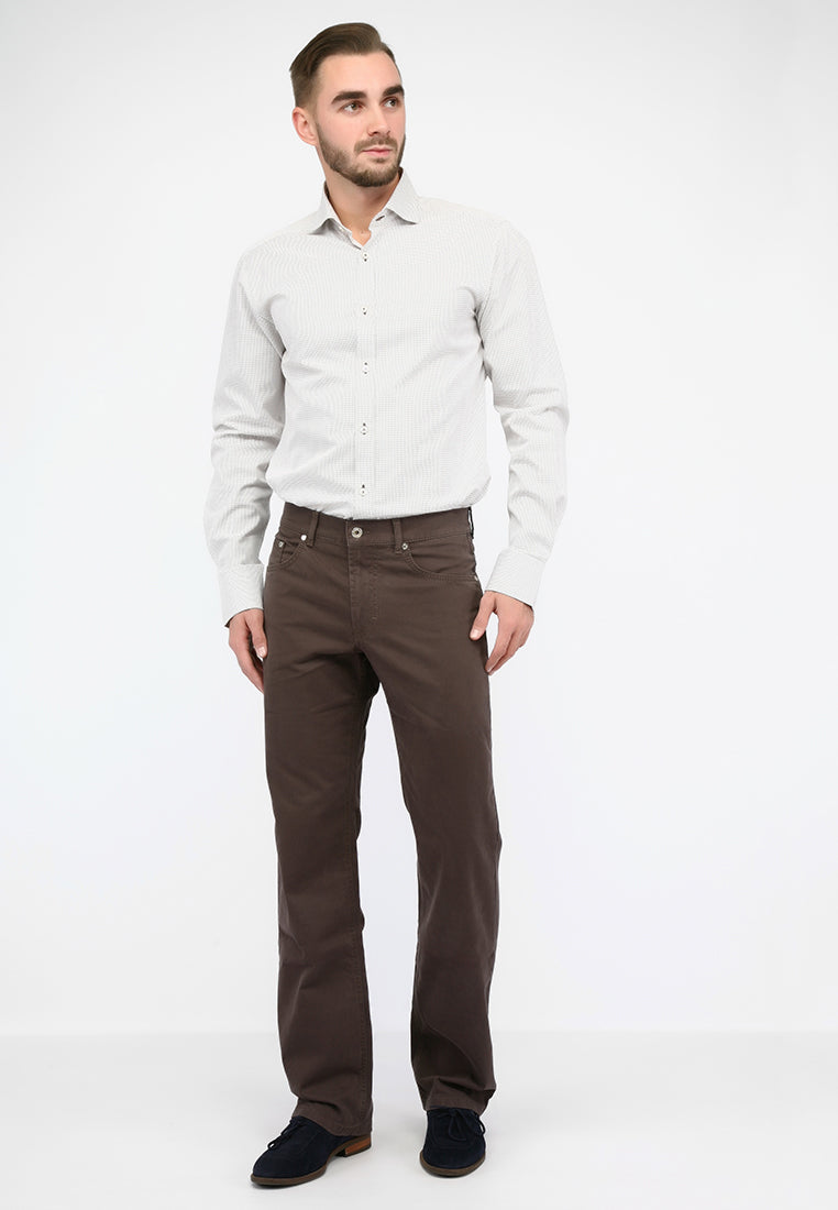 """Steve"" • Walnut • Stretch 5-Pocket • Slim Fit • Cashmere"