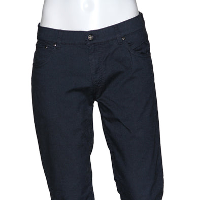 Navy Cotton 5-Pocket Contemporary Fit