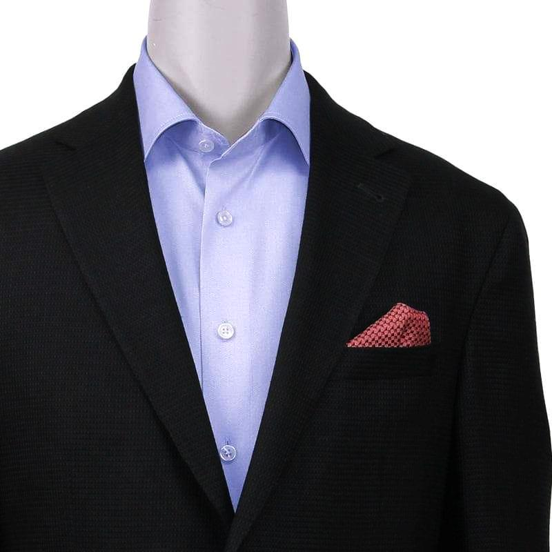 Jack Victor Contemporary Fit Black Textured Sport Coat - Closeup