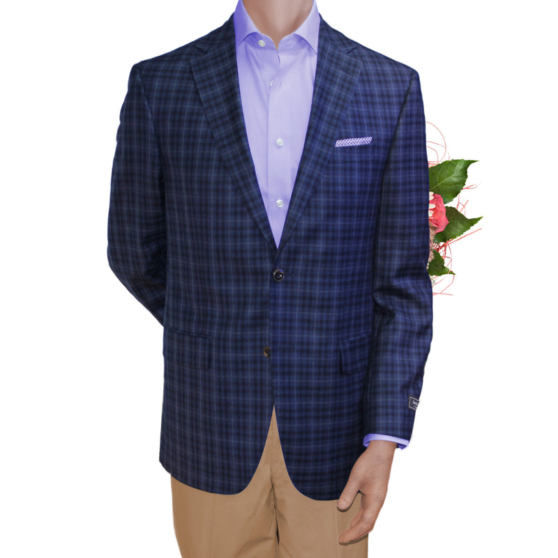 Blue Check blazer by Jack Victor