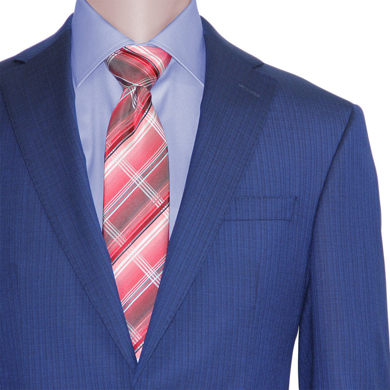 """New Blue"" minicheck suit by Jack Victor • Fabric by Loro Piana"