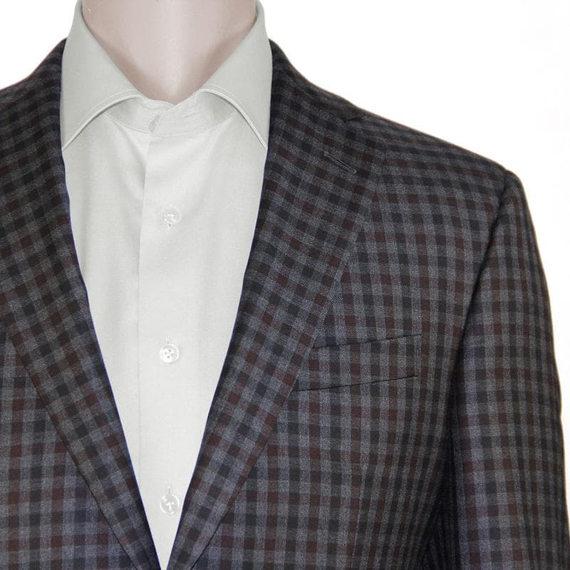 Dark Grey Checked Sport Coat by Jack Victor