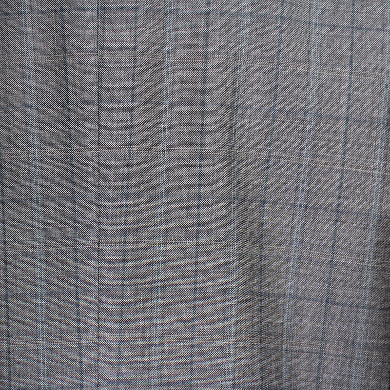 Mid-grey windowpane suit by Jack Victor - fabric detail