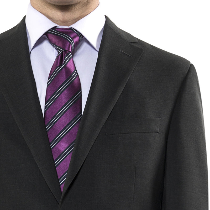 Charcoal grey suit by Jack Victor