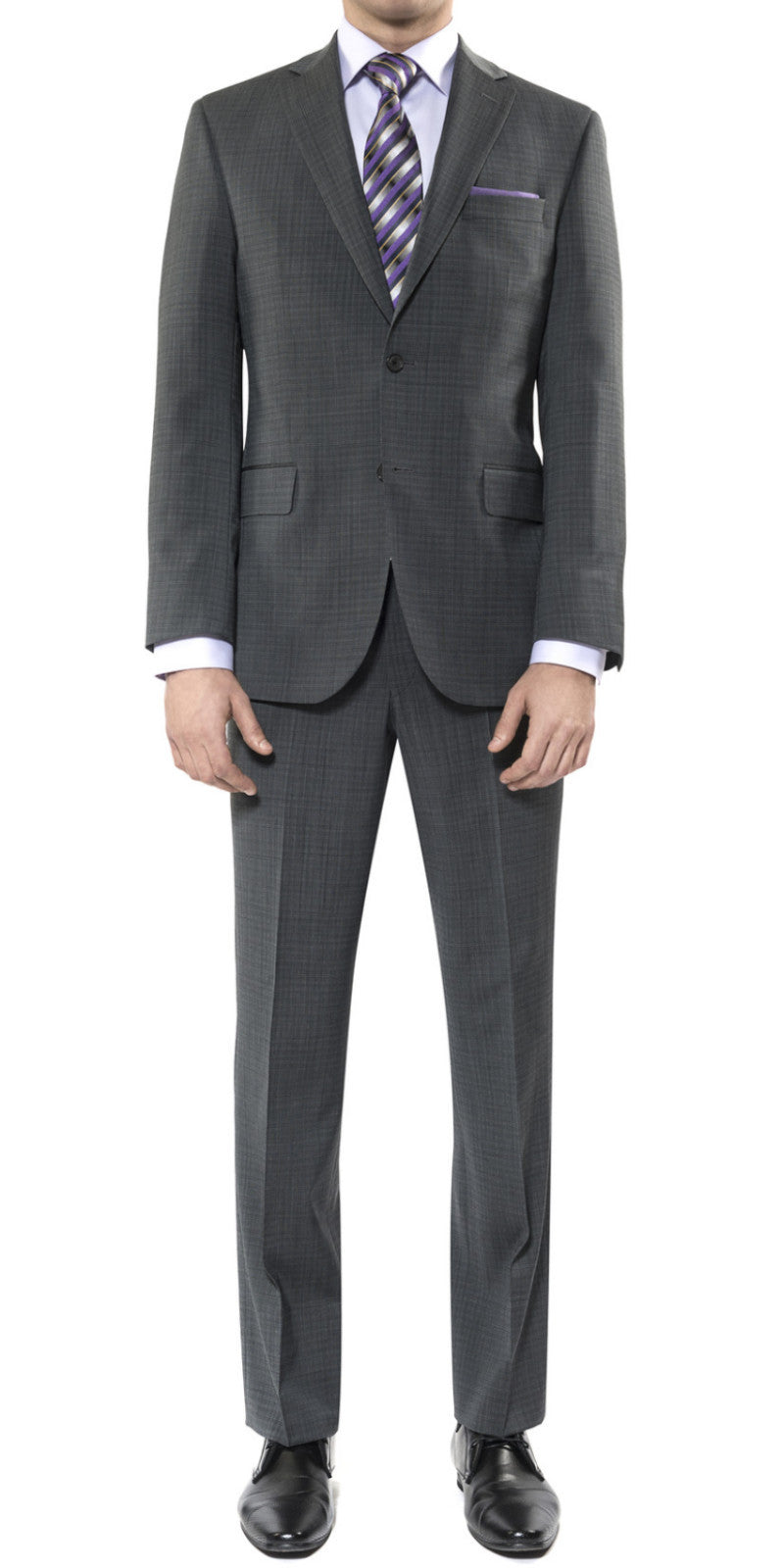 Grey check suit by Jack Victor