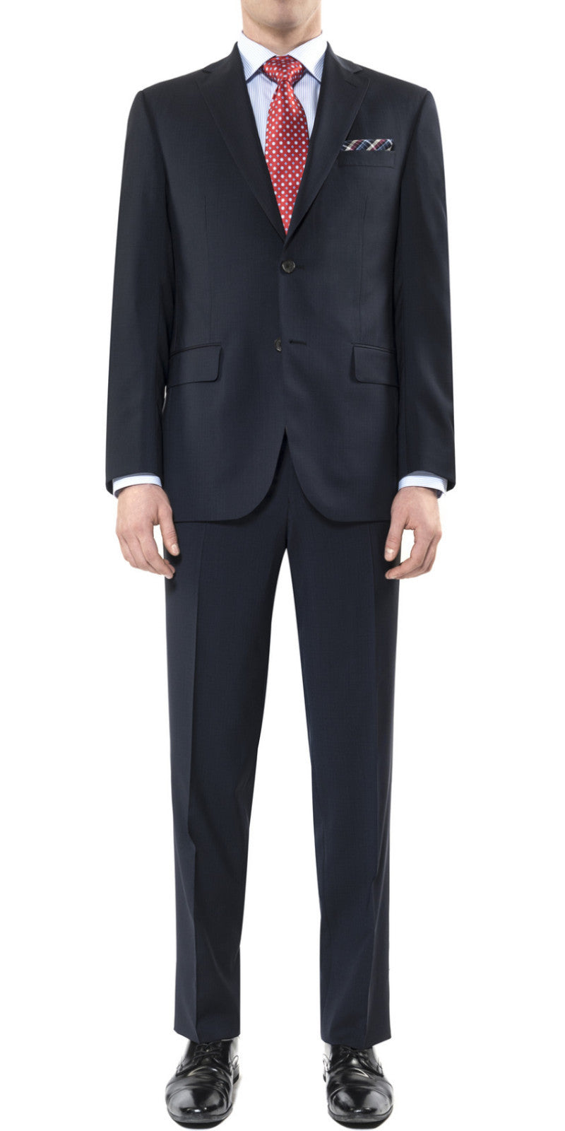 Blue microcheck suit by Jack Victor