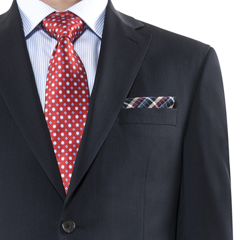 Blue Microcheck New York Suit (Separates) • Contemporary Fit