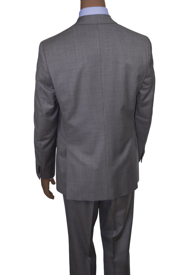 Mid-Grey Striped Suit • DrySense Fabric • Slim Fit