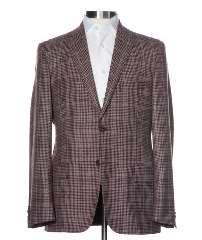 Checked Soft Construction Wool & Cashmere Contemporary Fit Sport Coat