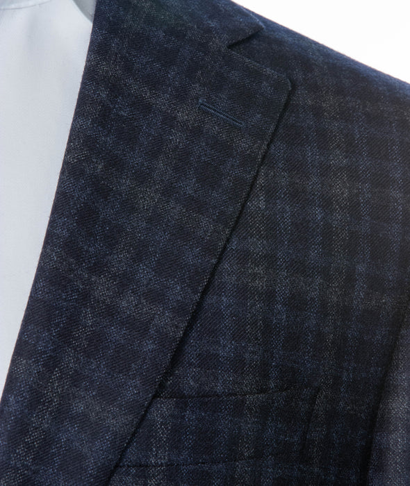 Midland Grey Check Contemporary Fit Sport Coat