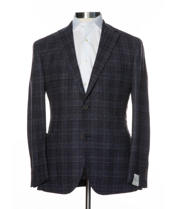Eames Check Contemporary Fit Unconstructed Sport Coat