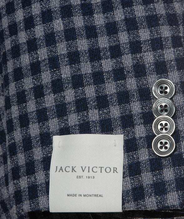 Ink Blue Check Slim Fit Sport Coat