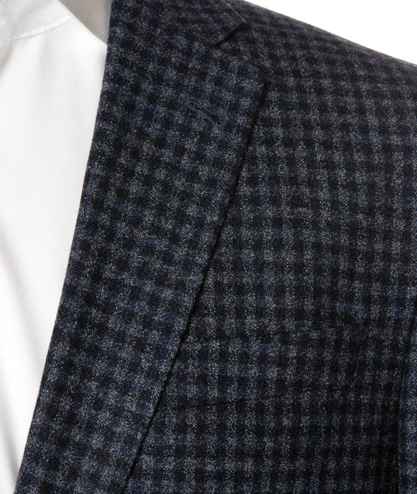 Midland Blue Check Contemporary Fit Sport Coat