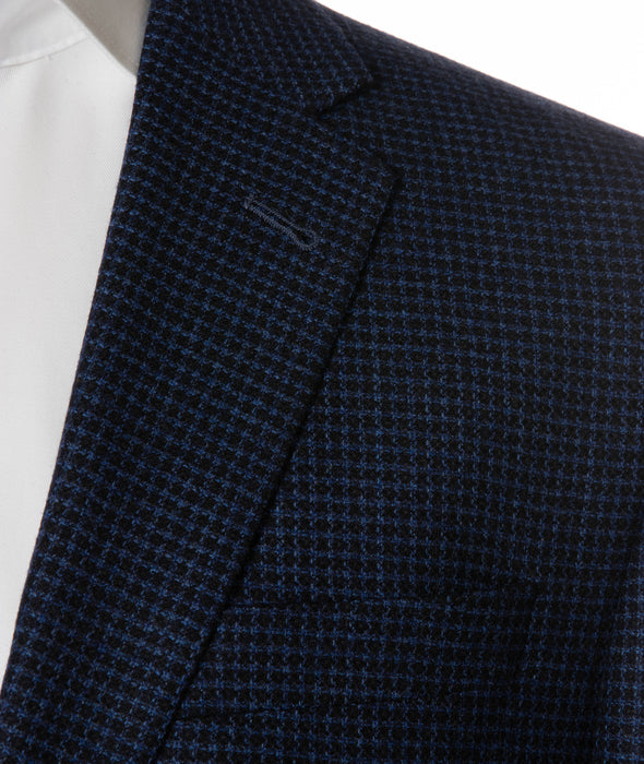 Ink Blue Mini Check Slim Fit Sport Coat