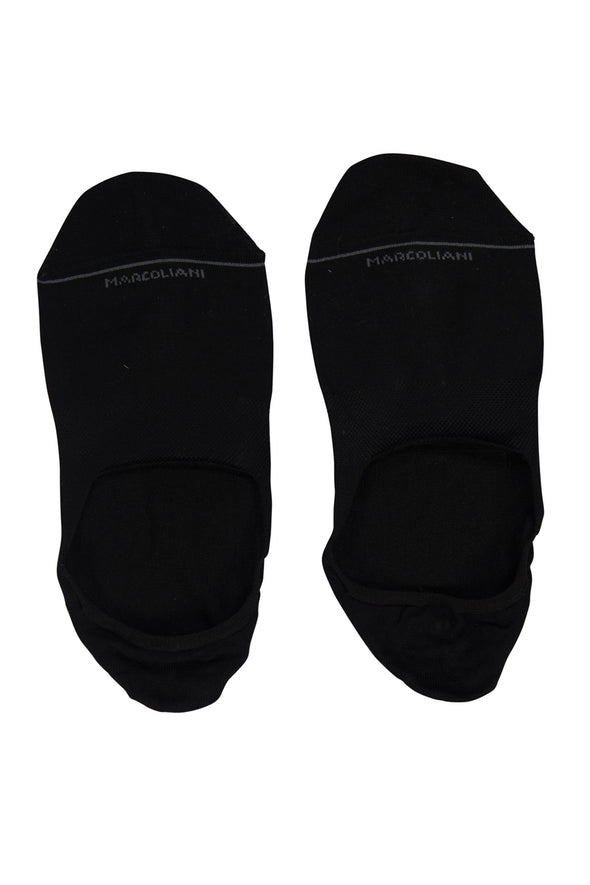 Black Invisible Touch No-Show Socks