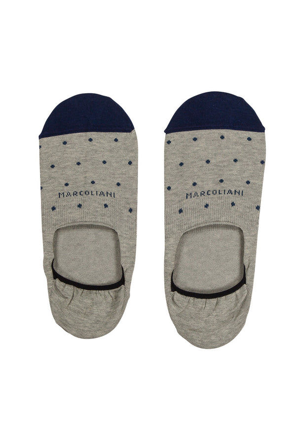 Gray Polka Dot Invisible Touch No-Show Socks
