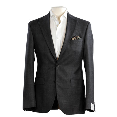 Gray Micro Check Contemporary Fit Suit - Urban