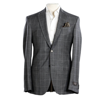 Gray Check Slim Fit Suit - Orleans