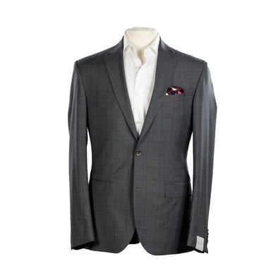 Jack Victor - Charcoal Gray Birdseye Check - Slim Fit