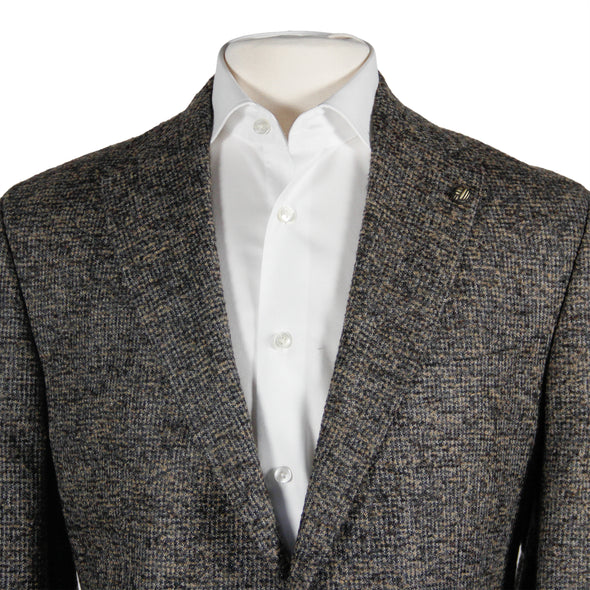 Jack Victor - 1913 Collection Earth-Tone Mélange Alpaca Contemporary Fit Sport Coat