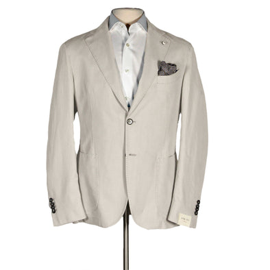 White Sand Garment Dyed Cotton Unconstructed Contemporary Fit Sport Coat